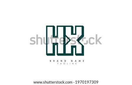 Alphabet Letters Initials Monogram Logo HX, H and X Stock photo ©
