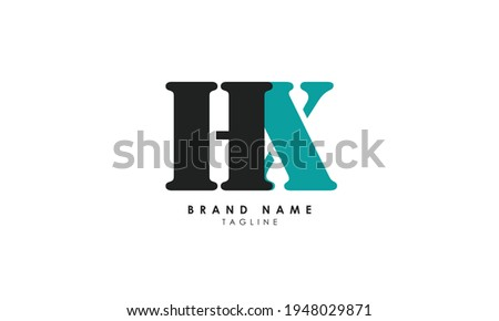 Alphabet letters Initials Monogram logo HX, XH, H and X Stock photo ©