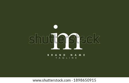 Alphabet letters Initials Monogram logo IM, MI, I and M Stok fotoğraf ©