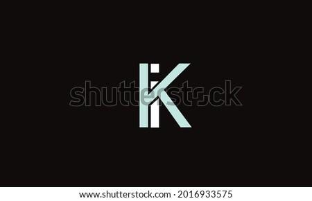 Alphabet letters Initials Monogram logo KI, KI, I and K Stock fotó ©