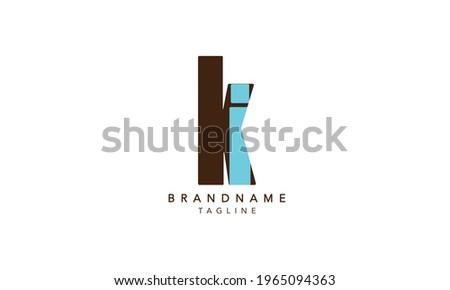 Alphabet letters Initials Monogram logo KI,KI INITIAL, KI letter , K and I Stock fotó ©