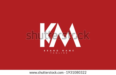 Alphabet letters Initials Monogram logo KM, MK, K and M Stock fotó ©