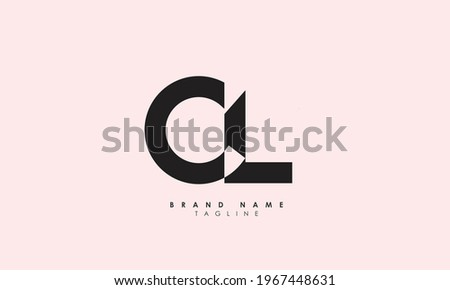 Alphabet letters Initials Monogram logo LC, CL, C, and L Photo stock ©