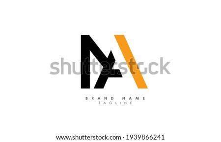 Alphabet letters Initials Monogram logo MA, AM, M and A Stok fotoğraf ©