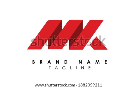 Alphabet letters Initials Monogram logo MK, KM, M and K Stock fotó ©