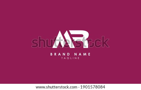 Alphabet letters Initials Monogram logo MR, RM, M and R, Alphabet Letters MR minimalist logo design in a simple yet elegant font, Unique modern creative minimal circular shaped fashion brands Stok fotoğraf ©
