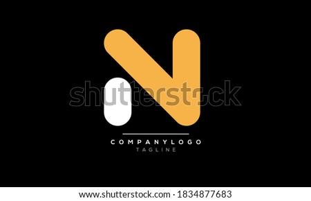 Alphabet letters Initials Monogram logo NV,VN Imagine de stoc ©