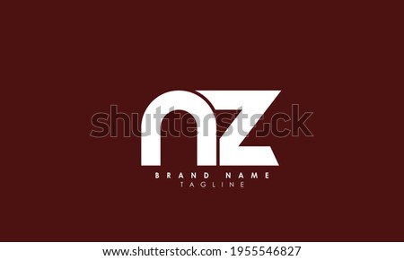 Alphabet letters Initials Monogram logo NZ, ZN, Z and N Stock fotó ©