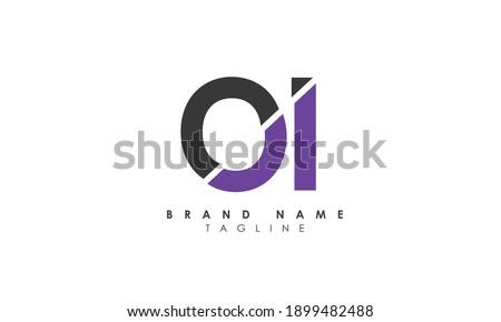 Alphabet letters Initials Monogram logo OI, IO, O and I, Alphabet Letters OI minimalist logo design in a simple yet elegant font, Unique modern creative minimal circular shaped fashion brands Foto stock ©