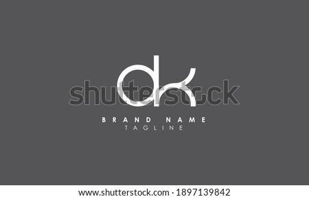 Alphabet letters Initials Monogram logo OK, KO, O and K Zdjęcia stock ©