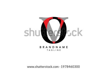 Alphabet letters Initials Monogram logo OV,OV INITIAL, OV letter , O and V Stock fotó ©