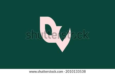 Alphabet letters Initials Monogram logo OV, VO, O and V Stock fotó ©