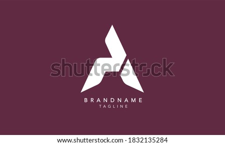Alphabet letters Initials Monogram logo PA, AP, P and A Photo stock ©