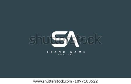 Alphabet letters Initials Monogram logo SA, AS, S and A Stok fotoğraf ©