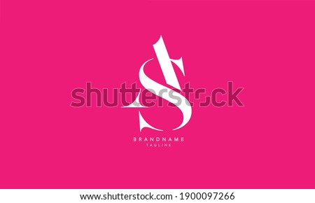 Alphabet letters Initials Monogram logo SA, AS, S and A Foto stock ©