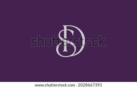 Alphabet letters Initials Monogram logo SD, DS, S and D Zdjęcia stock ©