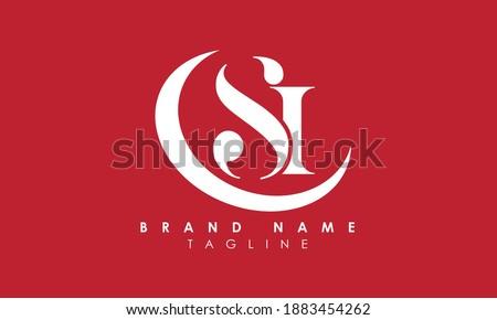 Alphabet letters Initials Monogram logo SI, IS, S and I Zdjęcia stock ©