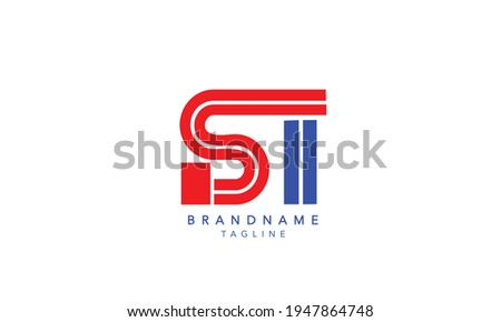 Alphabet letters Initials Monogram logo SI,SI INITIAL, SI letter , S and I Zdjęcia stock ©