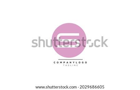 Alphabet letters Initials Monogram logo SO, SO INITIAL, SO letter Stok fotoğraf ©