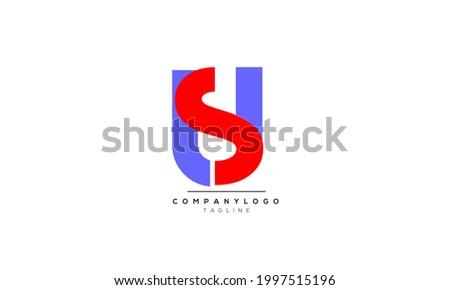 Alphabet letters Initials Monogram logo SU, SU INITIAL, SU letter Stok fotoğraf ©