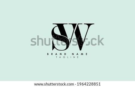Alphabet letters Initials Monogram logo SW, WS, W and S Zdjęcia stock ©