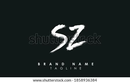 Alphabet letters Initials Monogram logo SZ, S and Z  Stock fotó ©