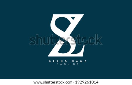 Alphabet letters Initials Monogram logo SZ, ZS, S and Z Stock fotó ©
