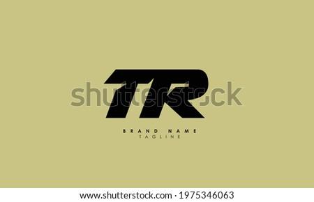 Alphabet letters Initials Monogram logo tr, rt, t and r Stock fotó ©