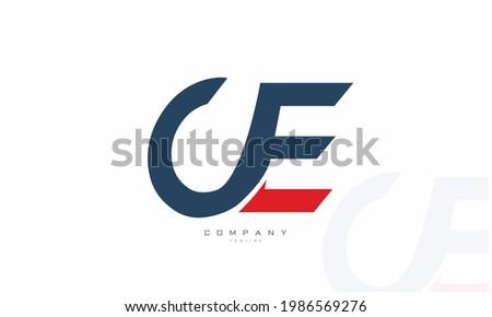 Alphabet letters Initials Monogram logo UE, EU, U and E Foto stock ©