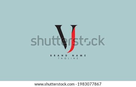 Alphabet letters Initials Monogram logo VJ, JV, V and J Stock fotó ©