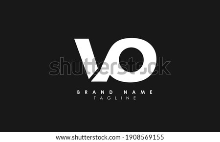 Alphabet letters Initials Monogram logo VO, OV, O and V, Alphabet Letters OV minimalist logo design in a simple yet elegant font, Unique modern creative minimal circular shaped fashion brands Stock fotó ©