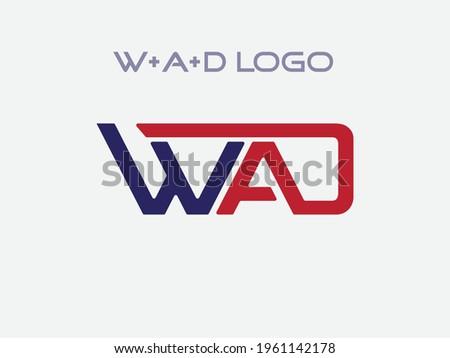 Alphabet letters Initials Monogram logo WAD, WA, AD Vactor Zdjęcia stock ©