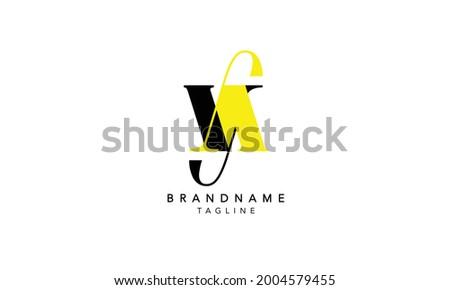 Alphabet letters Initials Monogram logo YA,YA INITIAL, YA letter , Y and A Stok fotoğraf ©