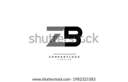 Alphabet letters Initials Monogram logo ZB, ZB INITIAL, ZB letter    Zdjęcia stock ©