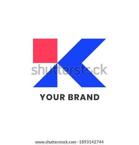 Alphabet letters Initials Monogram Simple Logo KI, IK For Company Business. Elegant Minimalist Modern Logo Design Stock fotó ©