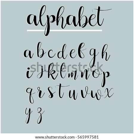 alphabet letters lettering calligraphy