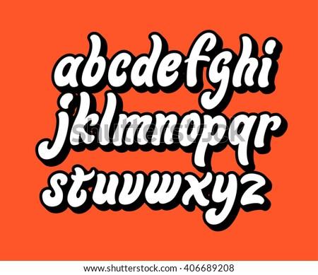 Alphabet letters. Lettering comic font.