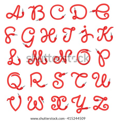 alphabet letters logo formed by