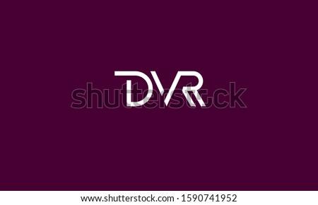 Alphabet letters monogram DVR,RVD,VRD,V,R and D Stock fotó ©