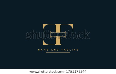 alphabet letters monogram icon logo EF or FE Stok fotoğraf ©