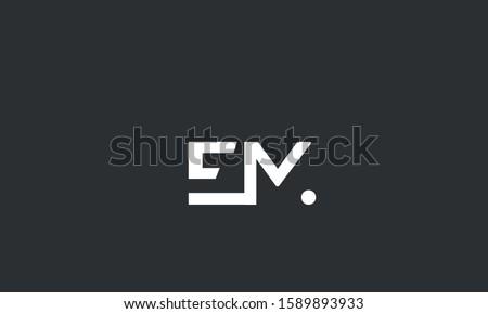 alphabet letters monogram icon logo EM,ME,E and M  Stok fotoğraf ©