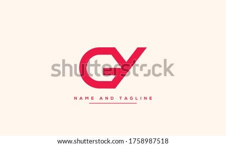 alphabet letters monogram icon logo GY or YG Stock fotó ©