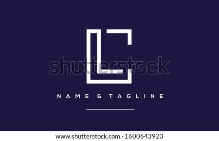 Alphabet letters monogram icon logo LC,CL,L and C Stock fotó ©