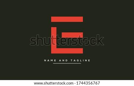 Alphabet letters monogram icon logo LE or EL Stock fotó ©