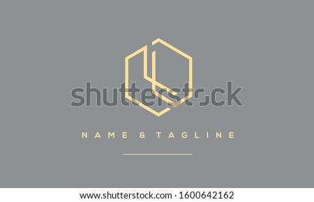 Alphabet letters monogram icon logo LL and L Stock fotó ©