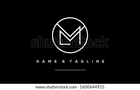 alphabet letters monogram icon