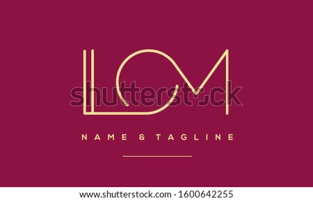 Alphabet letters monogram icon logo LOM,MOL,M,O and L Foto stock ©