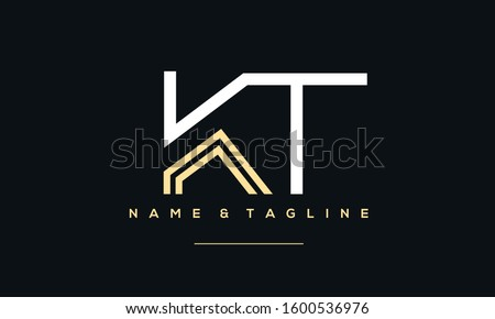 Alphabet letters monogram icon logo of KT,TK,T and K Stok fotoğraf ©