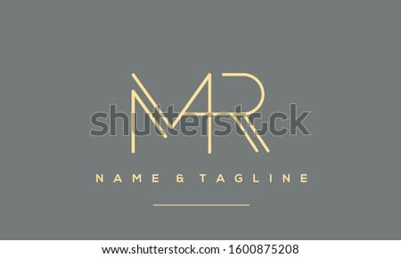 Alphabet letters monogram icon logo of MR,RM,R and M Stock fotó ©