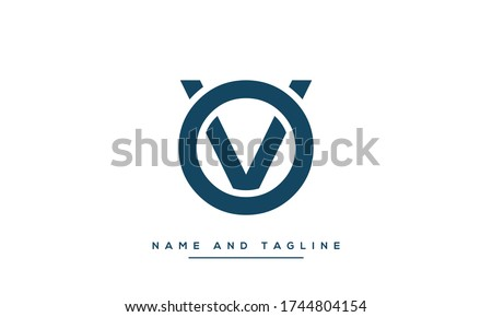 Alphabet letters monogram icon logo OV or VO Stock fotó ©